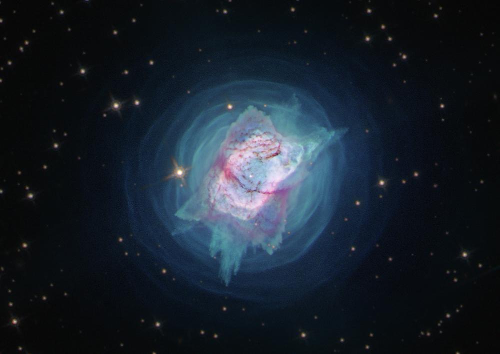 Kuğu Takımyıldızı'nda yer alan çok genç NGC 7027 gezegenimsi bulutsusu görüntüsü