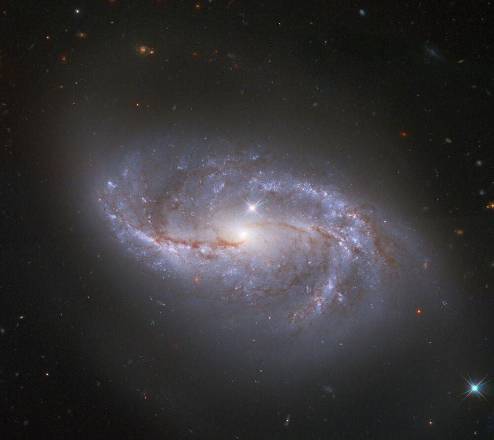 NASA'nın Hubble Uzay Teleskobu tarafından görüntülenen NGC 2608 galaksisi