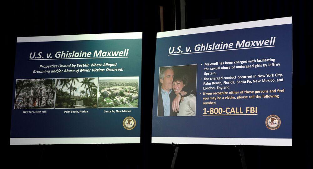 New York Güney Bölgesi Savcılığı'nın Jeffrey Epstein'ın hayat arkadaşı ve suç ortağı Ghislaine Maxwell hakkındaki iddianameyi açıkladığı basın toplantısından