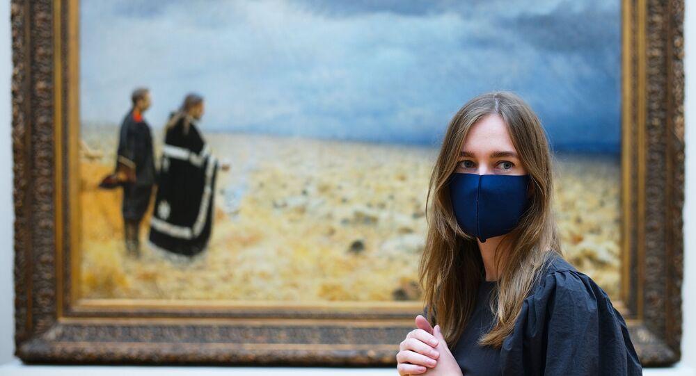 koronavirüs-Tretyakov Devlet Galerisi, Moskova, Rusya