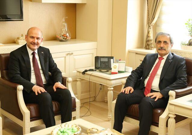 İçişleri Bakanı Süleyman Soylu, Yargıtay Cumhuriyet Başsavcılığına seçilen Bekir Şahin'e hayırlı olsun ziyaretinde bulundu.